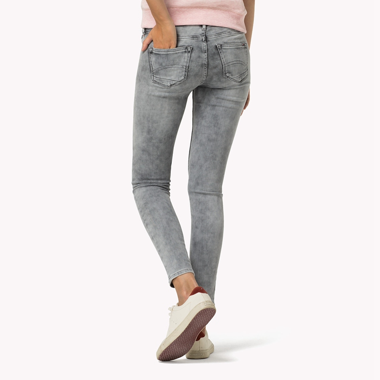 7/8 Jeans for women hilfiger denim nora skinny fit 7/8 jeans in dynamic x authentic light grey  stretch GYLLKEZ
