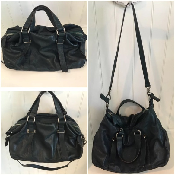 ABRO Bags abro soft satchel hobo bag forest green euc PWWBUPE