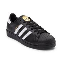 ADIDAS SHOES mens adidas superstar athletic shoe - black - 436151 DEXHTYC