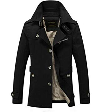 Autumn jackets for men also easy spring autumn jacket men slim fit trench coat mens cotton button  male casual IHMDIOR