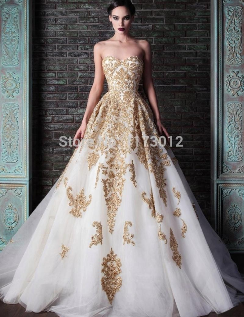Beautiful Ball Gowns fashion design rami kadi sweetheart ball gown evening dress lace appliques  queen beautiful evening gown-in ILSBOUQ