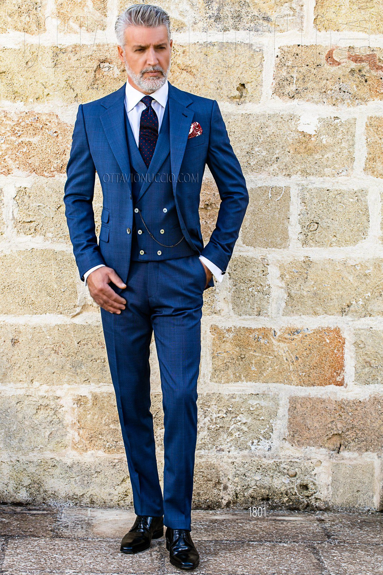 BLUE WEDDING SUITS blue prince of wales notch lapel formal suit...xo carlos men wedding suits DAAIGXD