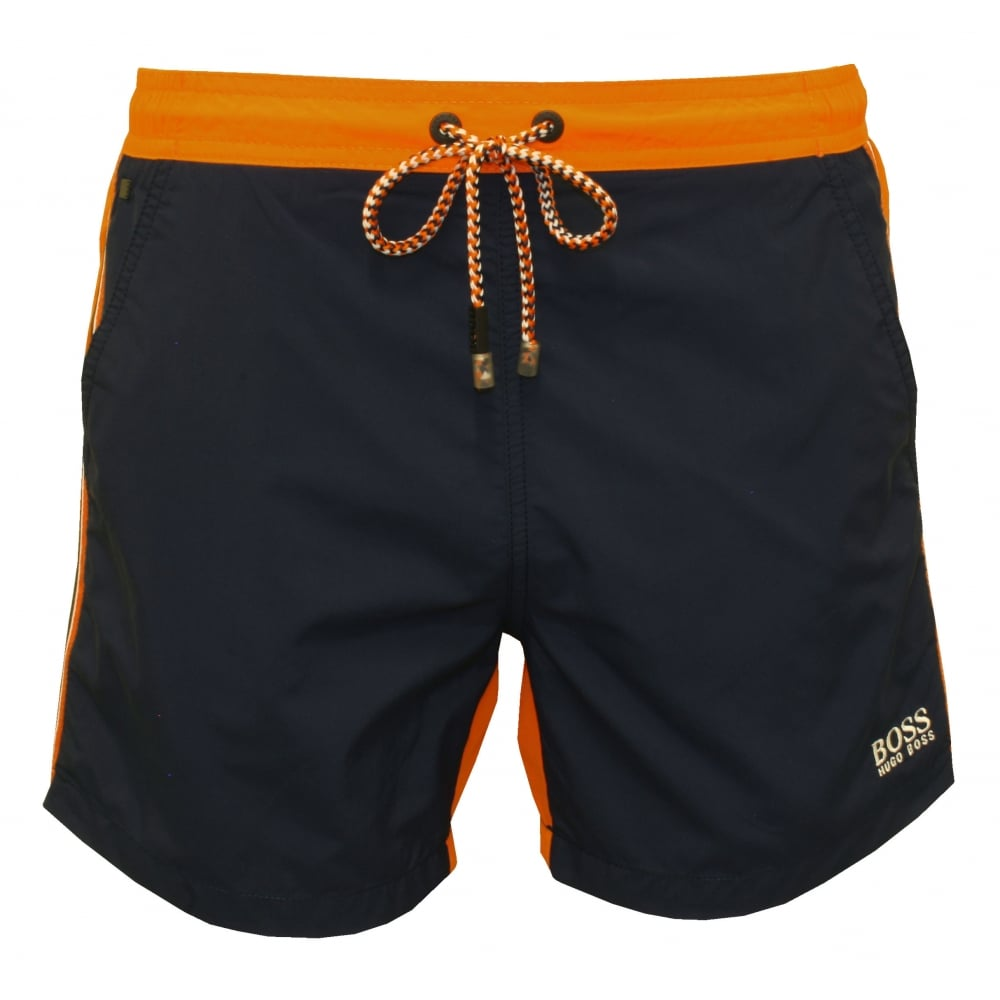 BOSS swimming shorts snapper swim shorts, navy/orange YLMCGJW