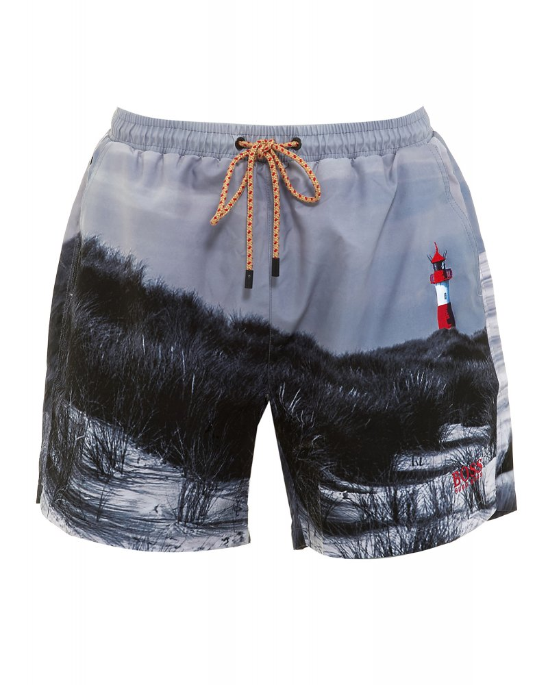 BOSS swimming shorts swimwear, grey lighthouse u0026#039 ... SBCINEM