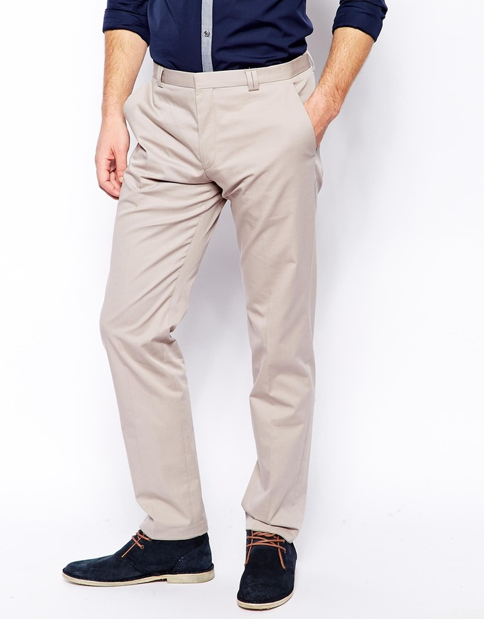 BOSS trousers ... hugo boss hugo by cotton trousers in slim fit black HNRYFCQ