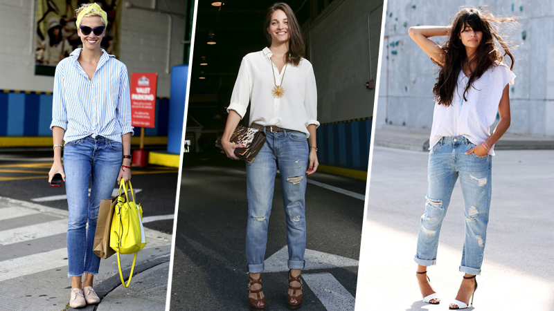 Boyfriend Jeans Outfit Ideas how to wear boyfriend jeans: 10 genius ideas | stylecaster SFFLEYB