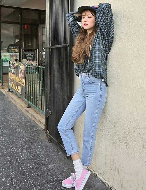 Boyfriend Jeans Outfit Ideas how to wear boyfriend jeans - outfit ideas BKGYTBJ