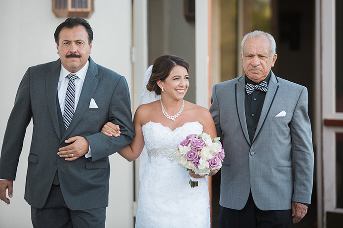 Bridal Fathers suits ... menifee lakes country club wedding bride with dad and grandfather  walking down the aisle DGEGPIR