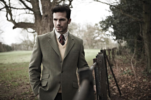 british country clothes get the look: country gents compton tweed blazer by alan paine FNMQREF