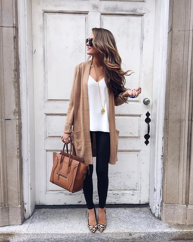 BROWN CARDIGANS brown cardigan | makeup, nails, and style in 2018 | pinterest | fashion,  outfits and VSWDXVP