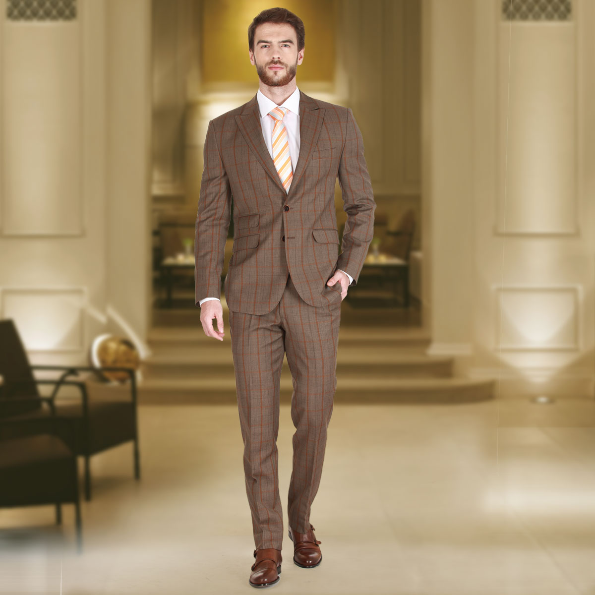BROWN SUITS for men best men suit stores, best custom tailored suits, best bespoke suits,  custom tailored YDTAGAH