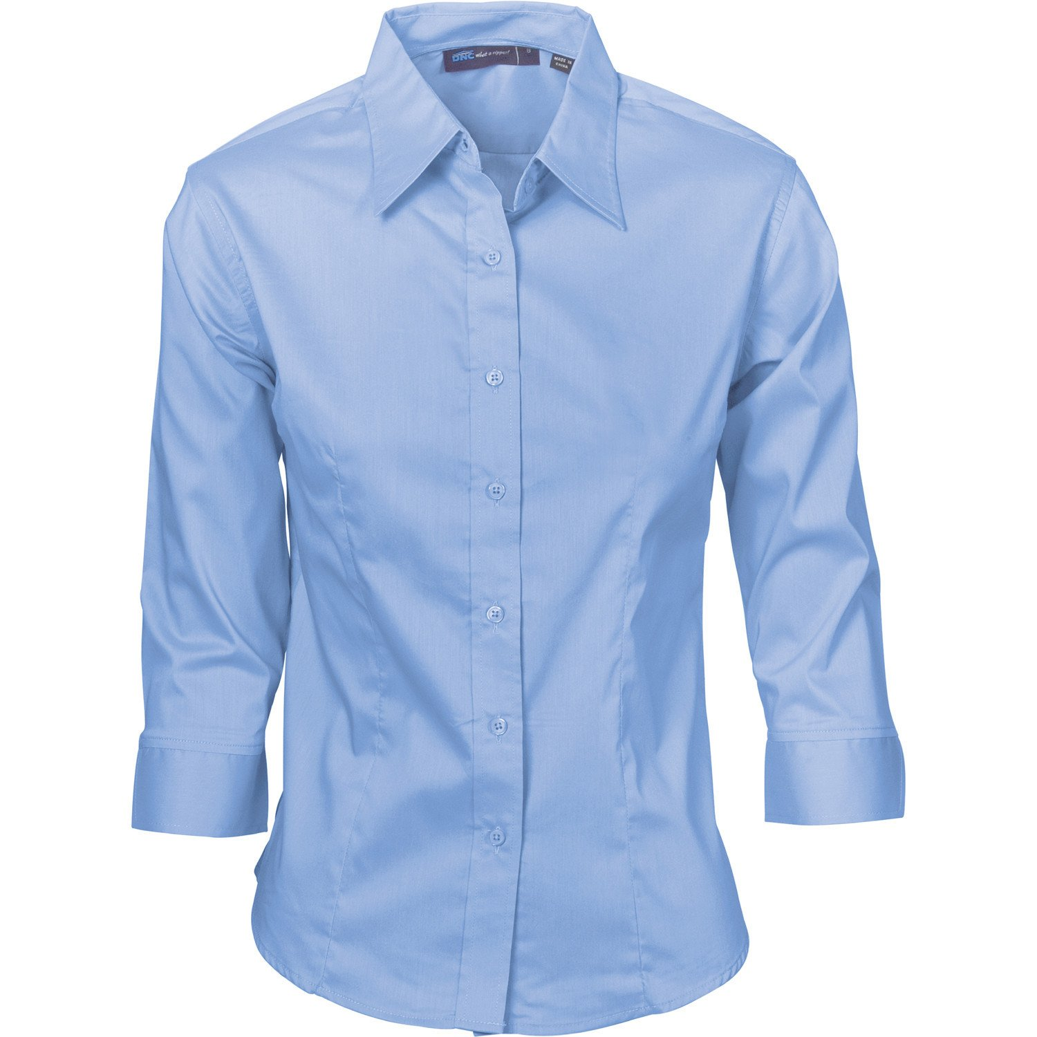 Business Shirts dnc ladies premier stretch poplin 3/4 sleeve business shirts (4232) KLEZGZN