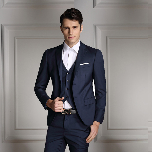 Business suits 2018 new fashion men costume homme business suits jacket wedding suits for  men, two buttons RASNJKA