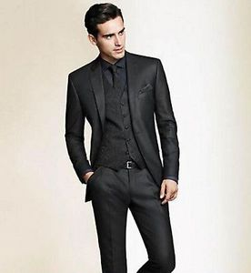 Business suits image is loading men-wedding-suits-groom-tuxedos-bridegroom-black-suits- CAADVKM