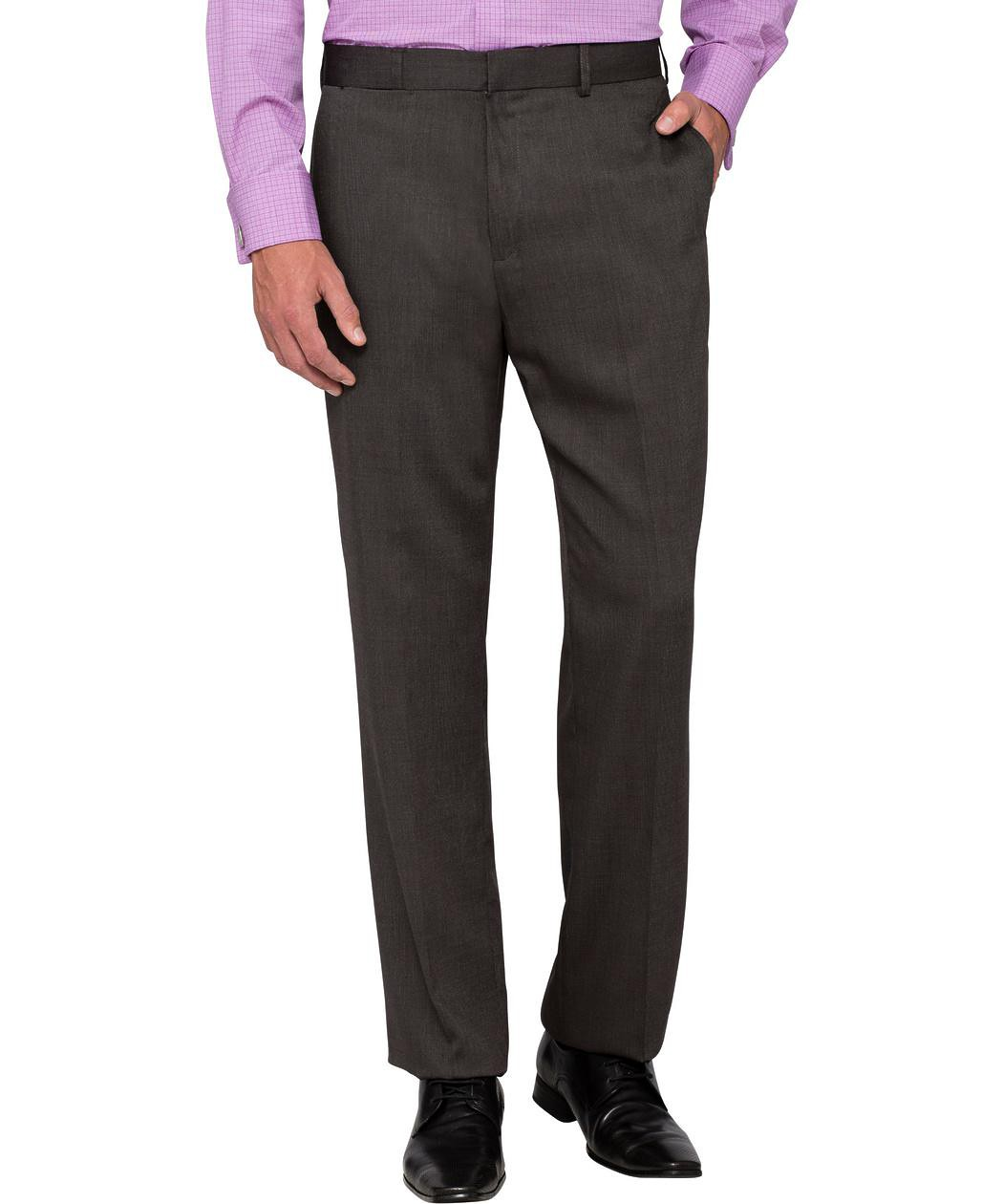 Business Trousers classic relaxed fit business trousers charcoal QCWGYUU