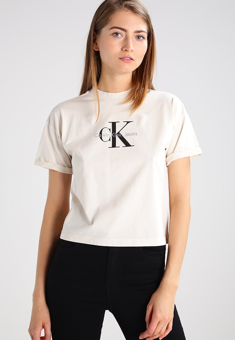 Calvin Klein Fashion for Women calvin klein jeans print t-shirt - natural women clothing tops u0026 t-shirts,calvin  klein bralette sizing,the WYGUSVN