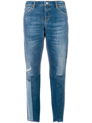 CAMBIO JEANS cambio patchwork detail jeans ... WOMZKSR