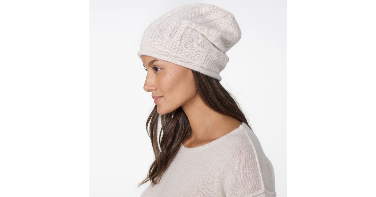Cashmere Beanie for Women lyst - james perse womens gift set - cashmere beanie and scarf in white QJBRWCL