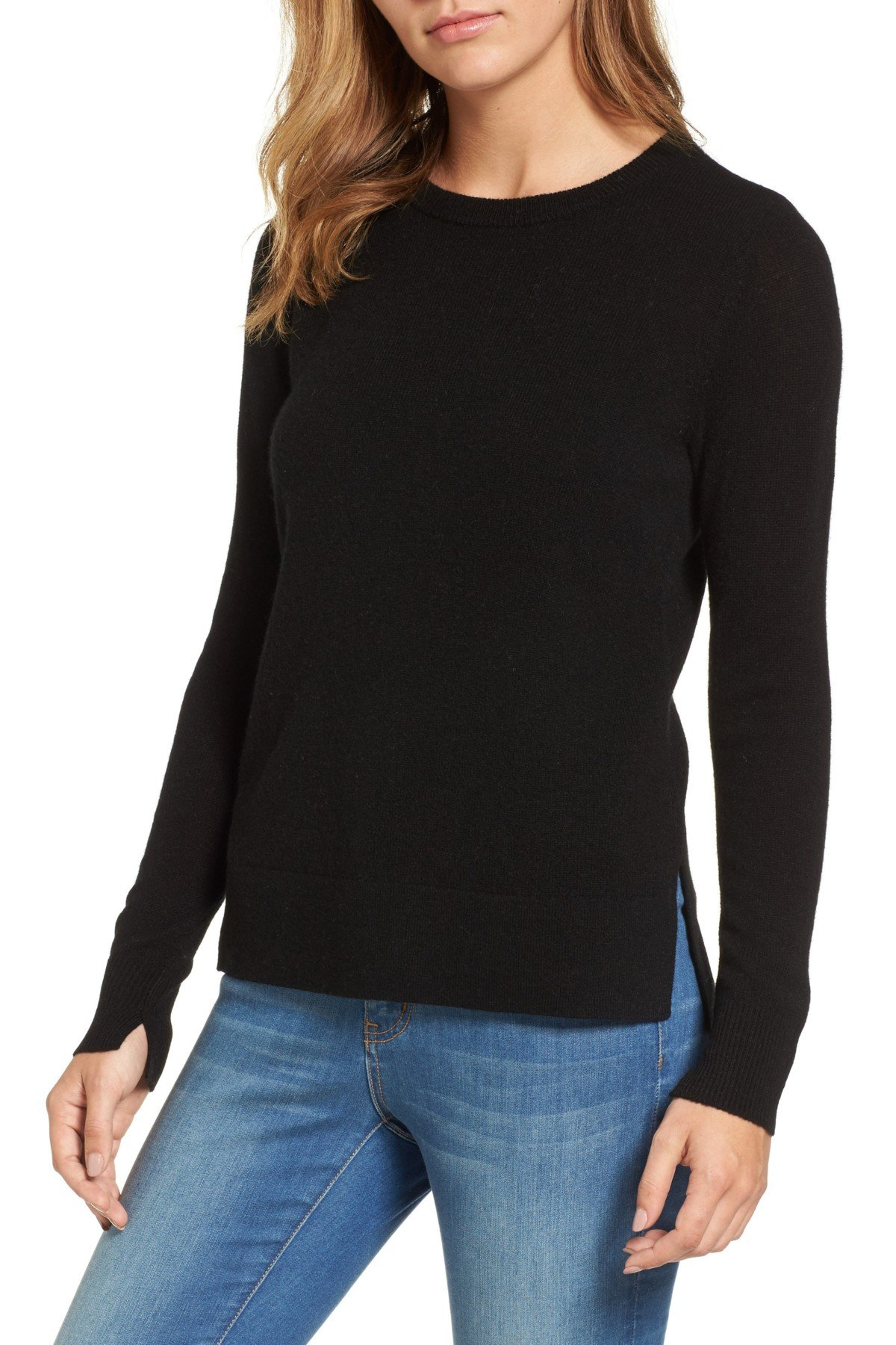Cashmere Sweater for Women halogen - halogen(r) crewneck cashmere sweater (regular u0026 petite) DSEYATP