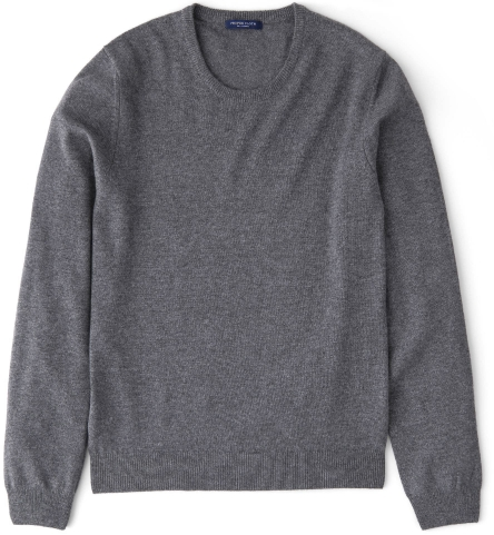 Cashmere sweater grey cashmere crewneck sweater by proper cloth UXPEUXB