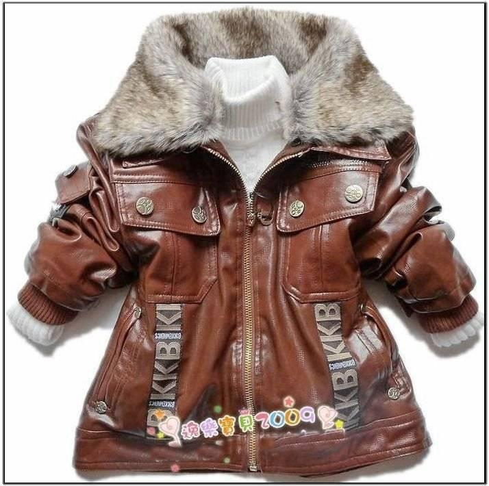 Children's jackets for boys retail children outerwear boys faux leather with faux fur collar baby kids  spring outwear jackets DNUKBKH