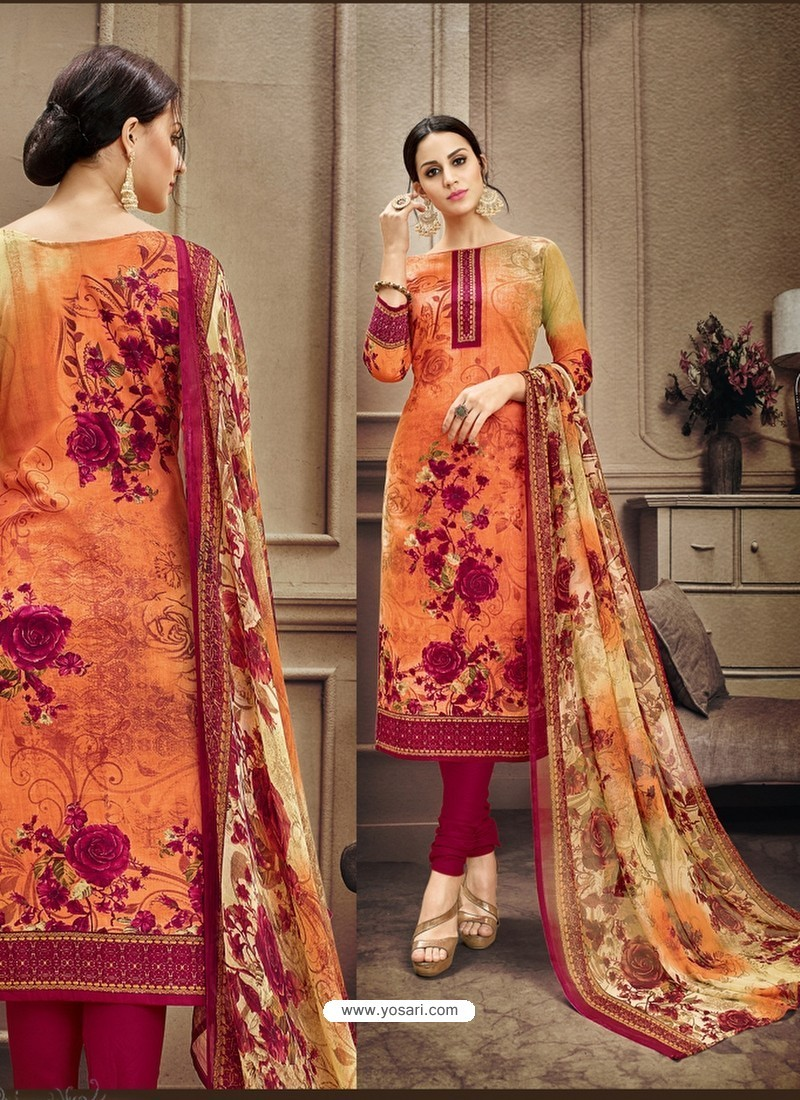 Cotton Suits orange designer cotton suit ZGMNHTG