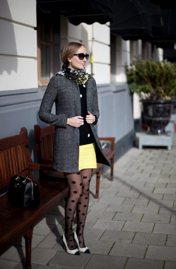 dots patterned tights outfit look bmodish PQIBUGV