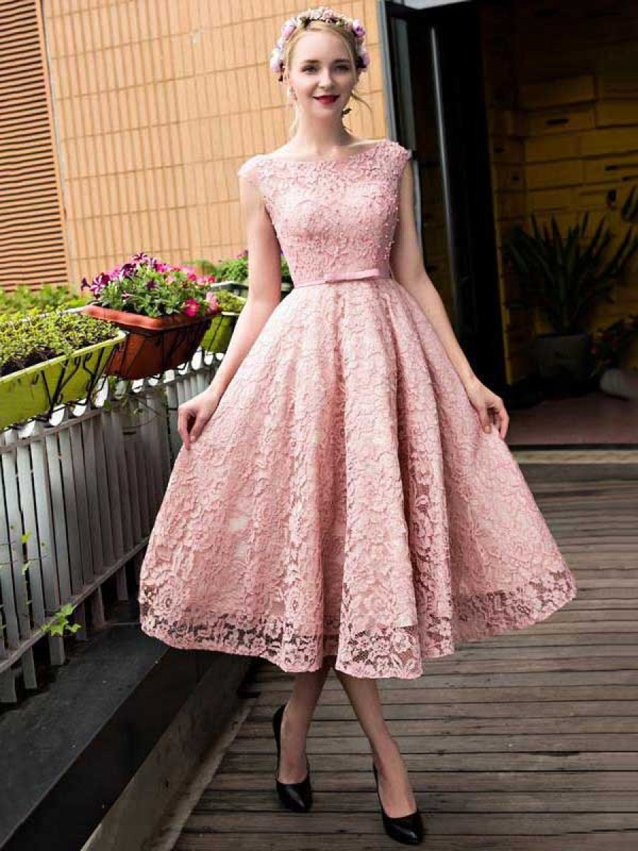 Dress for the graduation pink lace prom homecoming cocktail graduation dresses 996021524 IMHASMO