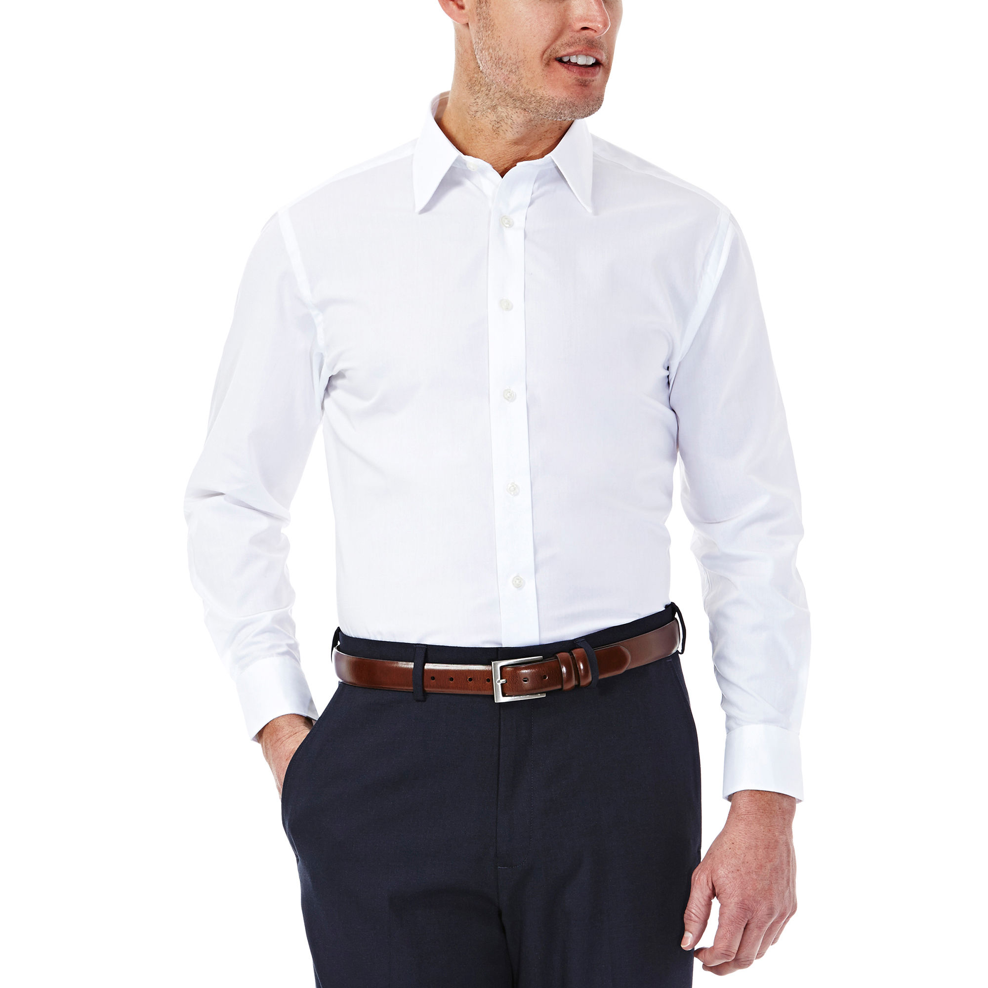 Dress shirts solid poplin dress shirt, HCTCSPH
