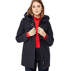 Duffle Coats for Women the collection - navy hooded duffle coat EUCCUHS