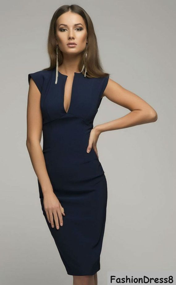 Elegant Pencil Dresses victoria beckham-dark blue dress,elegant pencil dress. GMGINXP