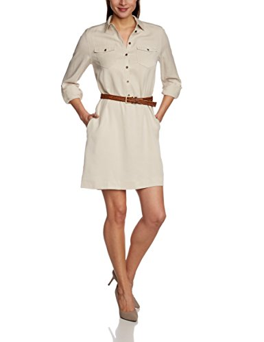 ESPRIT COLLECTION DRESSES esprit-collection-womens-long-sleeve-dress-beige-18- HORAYIR
