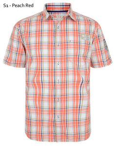 ESPRIT MENS SHIRTS image is loading esprit-mens-slim-short-sleeve-check-shirts-casual- TQTXVIB