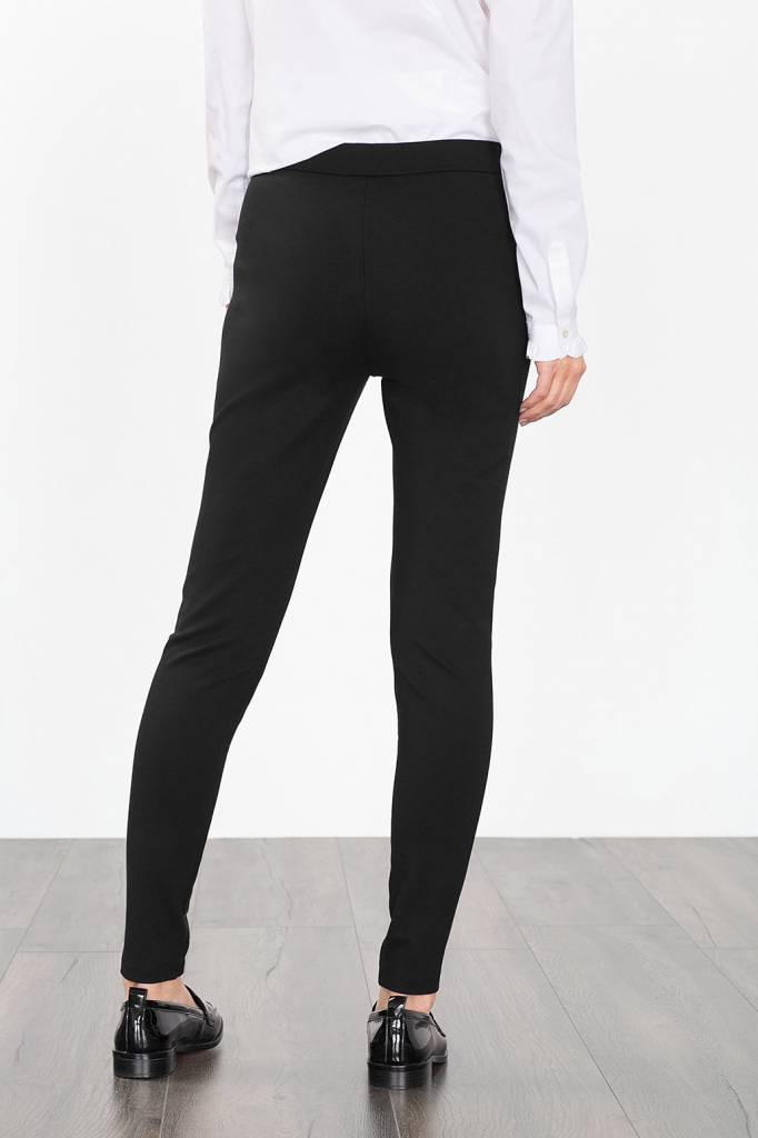 ESPRIT PANTS esprit esprit superstretchy pants with imitation leather - black KBODXLO