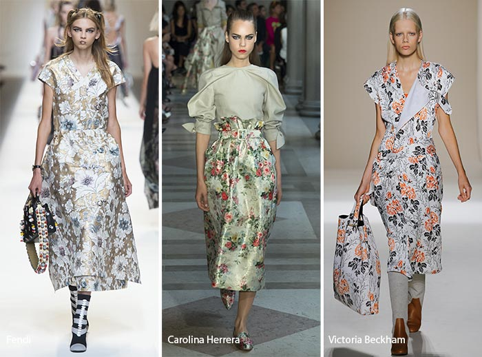 Fashion with floral pattern spring/ summer 2017 print trends: floral prints QOKREUC