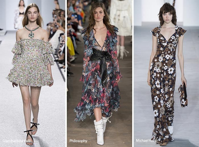 Fashion with floral pattern spring/ summer 2017 print trends: floral prints UXEIAOK