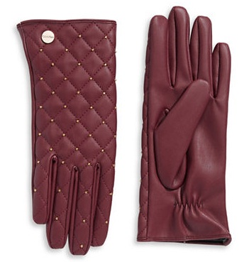 Fashionable gloves ... are loving the rich burgundy shade of these sleek leather gloves, which TZYTSTM