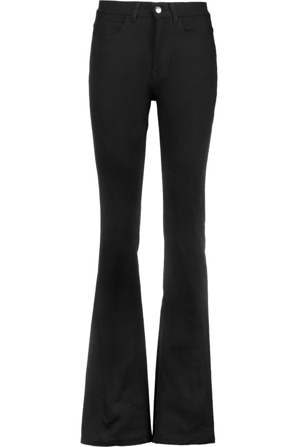 Flared jeans for women acne studios lita high-rise flared jeans black woman GDHCKQJ