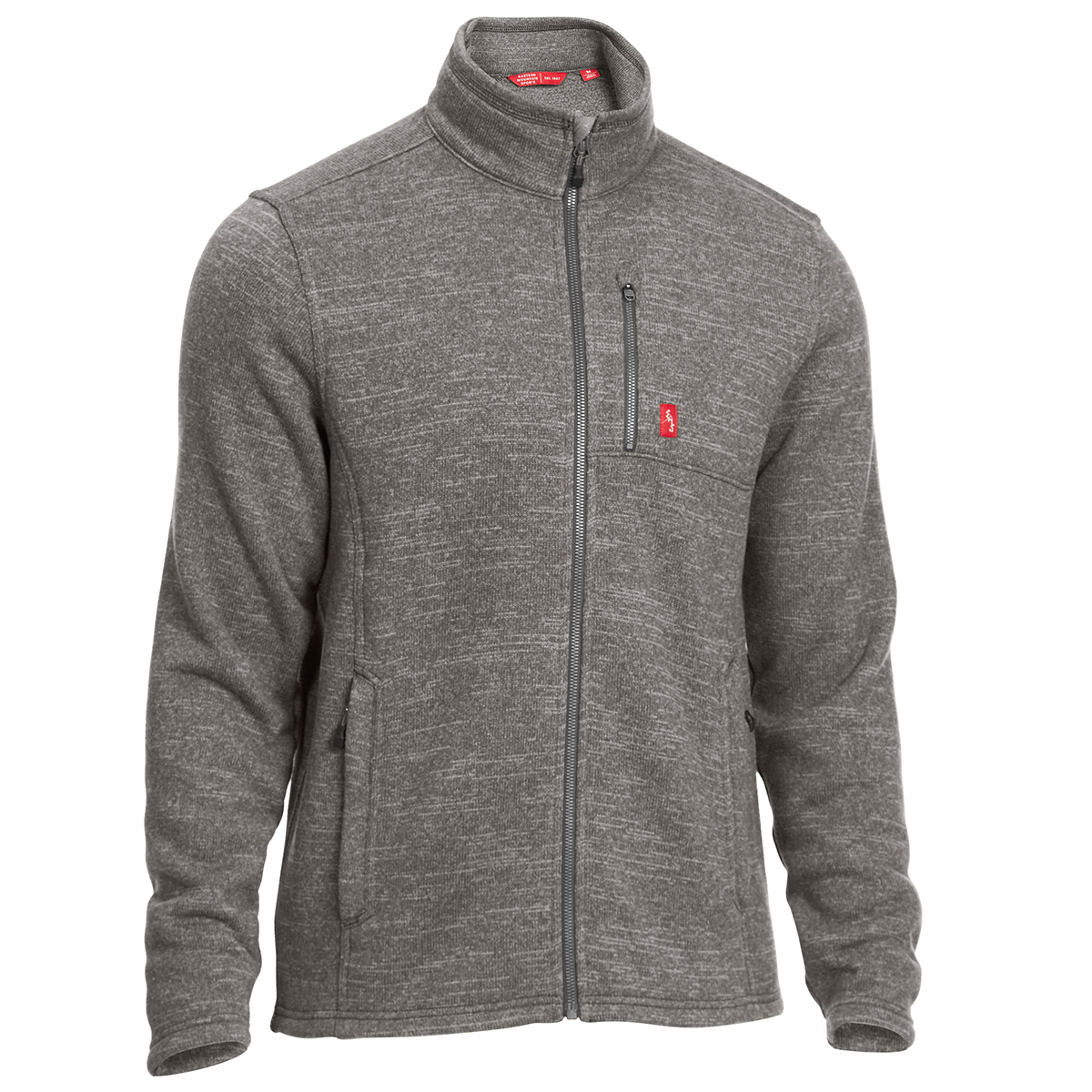 Fleece Jackets ems men-s roundtrip trek full-zip fleece jacket - castlerock heather YAUFQIO