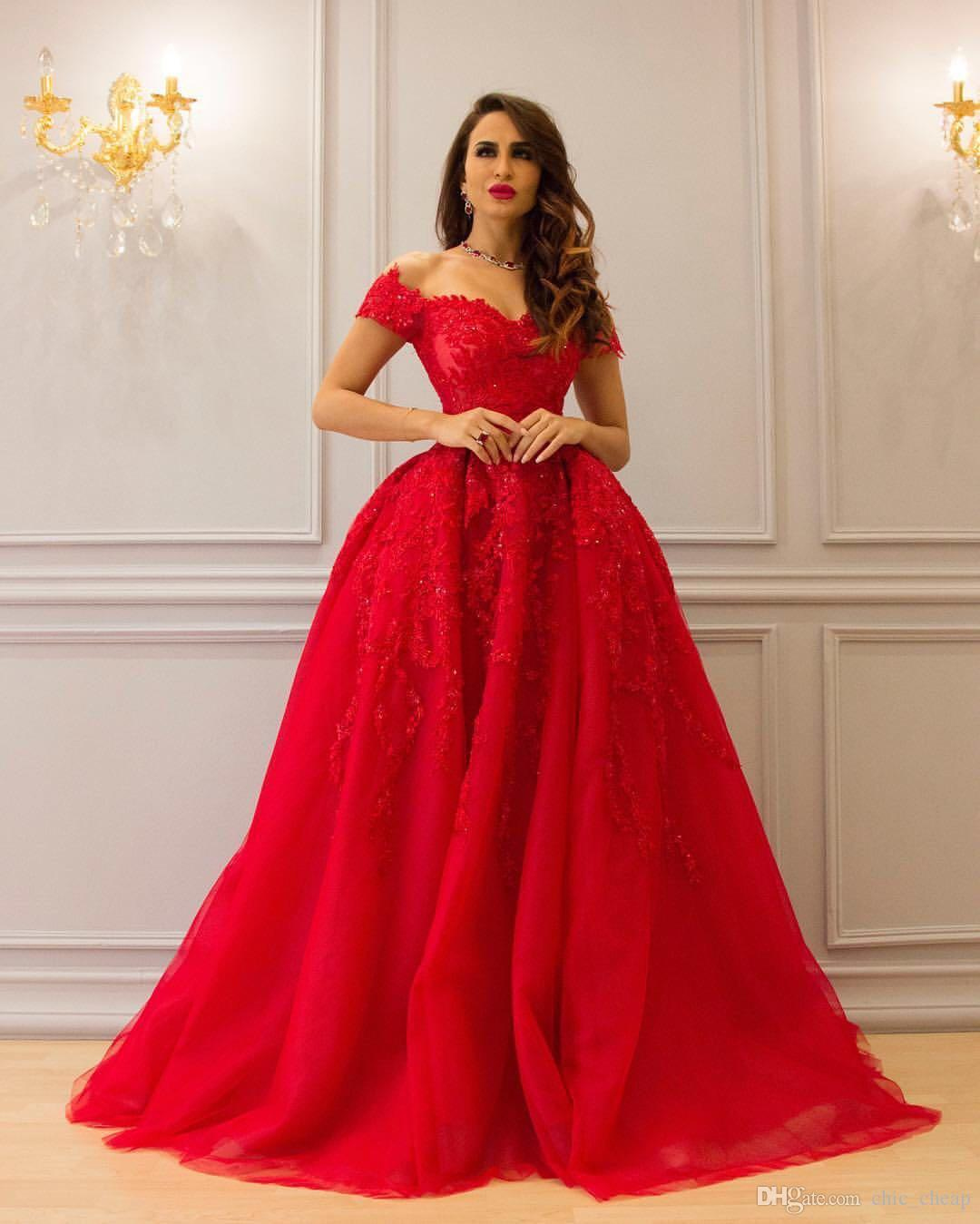 floor length dress off shoulder floor length red sparkly luxurious evening dresses 2018 custom  made a-line NRFQWBI