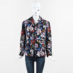 Floral Patterned Jackets image is loading vintage-missoni-multicolor-wool-knit-floral-patterned -buttoned- WOCQWJU