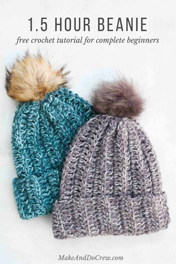 free crochet hat patterns crochet a hat in an hour! this free crochet hat pattern for beginners is so EGHKIZH