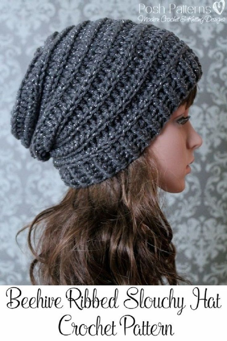 free crochet hat patterns crochet slouchy hat pattern - 15 easy and free crochet patterns to stay  warm this DMXHYIO
