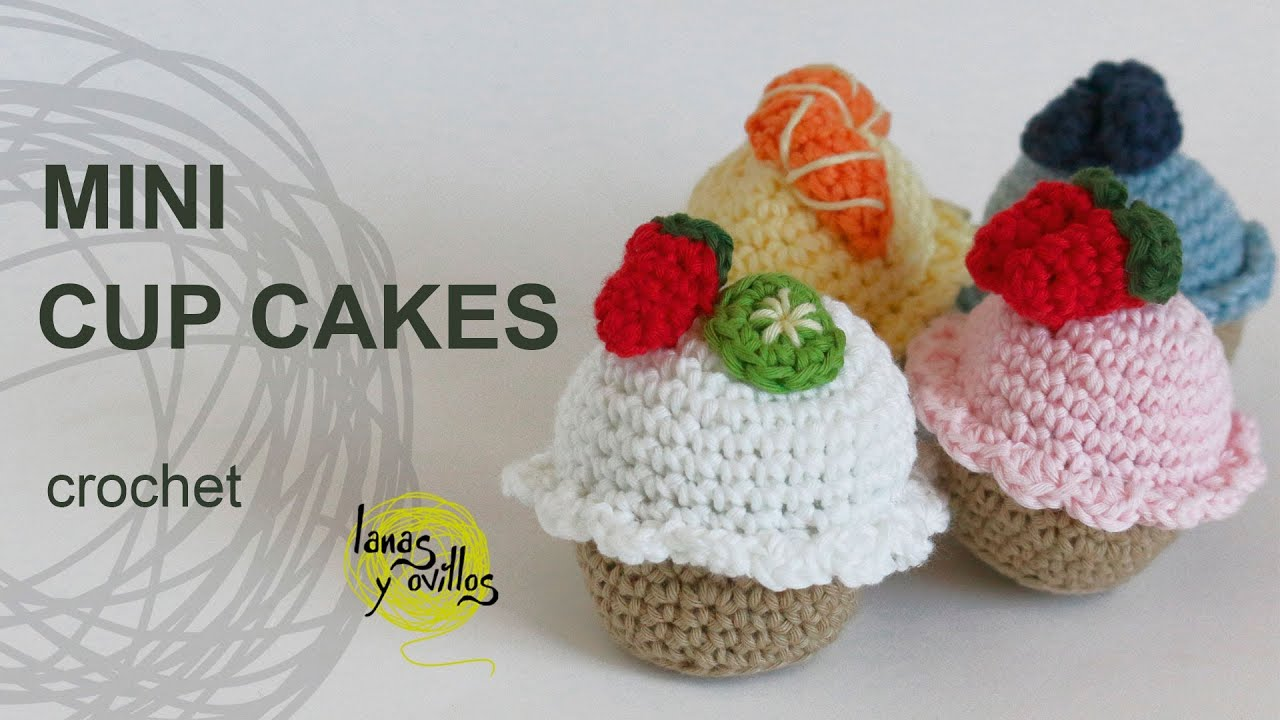 Free Crochet Muffins Pattern tutorial mini cupcakes amigurumi crochet o ganchillo - youtube ALLHBWO