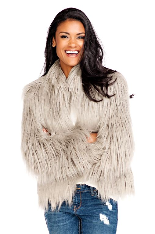 Fur Jackets grey tibetan lamb fashionista faux fur jacket - 1 ... EYUGOGR
