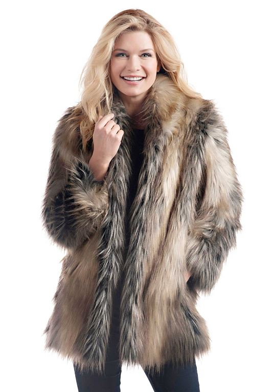 Fur Jackets pieced fox shawl collar faux fur jacket - 1 ... QKLVCNX