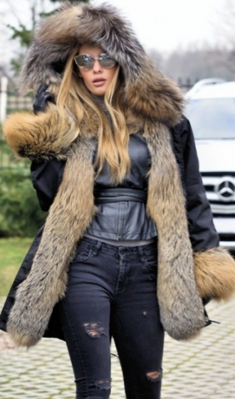 Fur Parkas ... american parka with fur - new american army parka u0026 fox fur coat KWJBADH