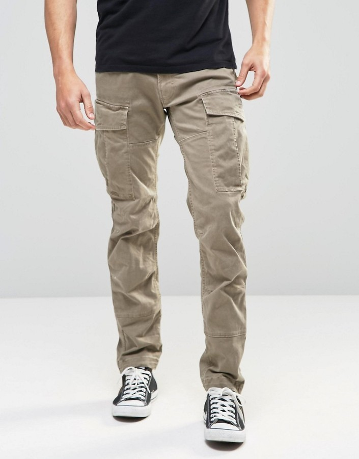 G Star Rovic Pants ... g star g star g-star cargo pants rovic slim fit stretch twill beige  overdye XCVJKWY