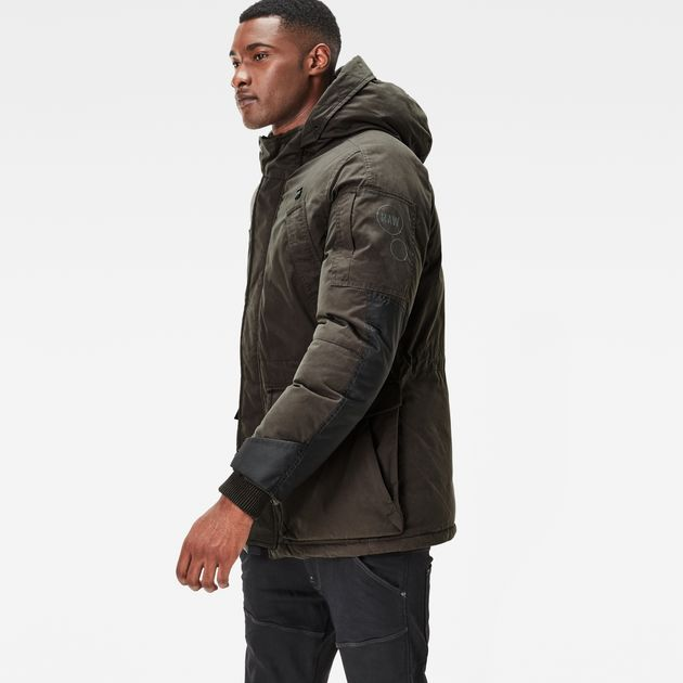 G-Star Winter Jackets expedic hooded cotton jacket | asfalt | g-star raw® QISVOKB