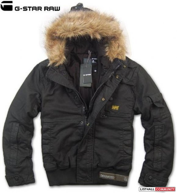 G-Star Winter Jackets ... g-star raw winter jacket. army green w/ fur (size medium) MBNDWHA